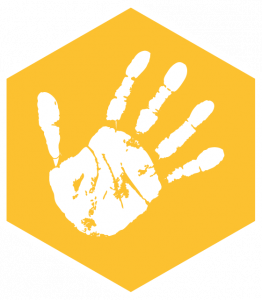 High 5 to happiness program icon of hand
